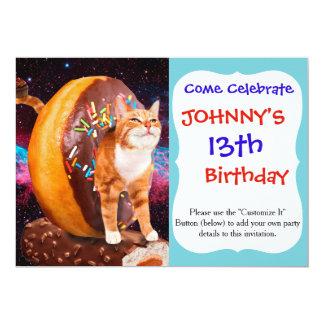 Carte Chat de beignet - chat de petit gâteau