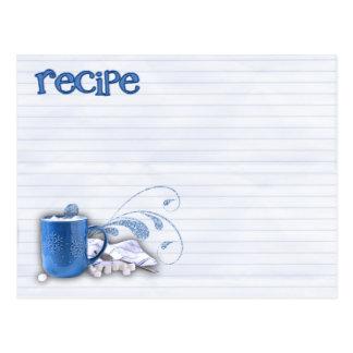 carte chaude de recette de cacao