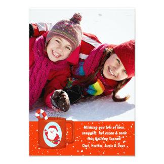 Carte chaude de vacances de photo de cacao carton d'invitation  12,7 cm x 17,78 cm