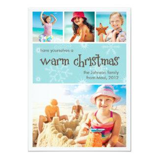 Carte chaude de vacances de photo de Noël 4 Carton D'invitation 12,7 Cm X 17,78 Cm