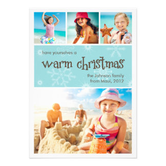 Carte chaude de vacances de photo de Noël 4 Bristols Personnalisés