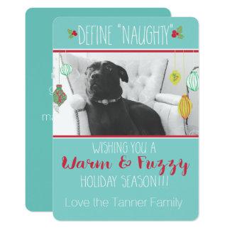 Carte chaude et brouillée de vacances carton d'invitation  12,7 cm x 17,78 cm