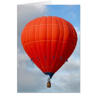 Carte chaude orange vibrante de ballon à air