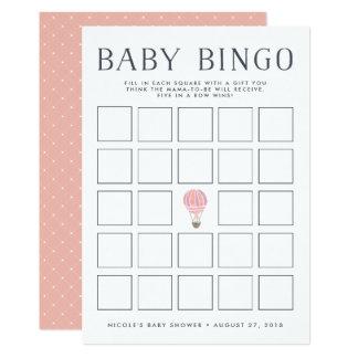 Carte chaude rose de jeu de bingo-test de baby