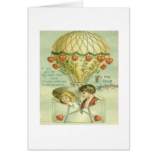 Carte chaude victorienne de Saint-Valentin de