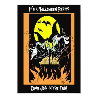 Carte Chaudron de sorcières de Halloween