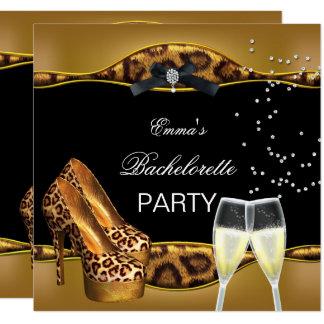 Carte Chaussures de noir de léopard d'or de partie de