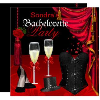 Carte Chaussures noires rouges de partie de Bachelorette