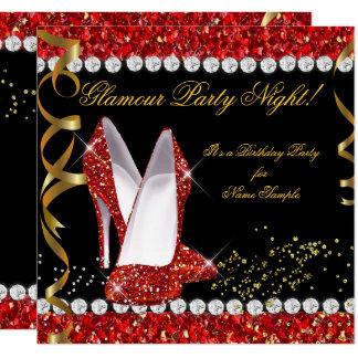 Carte Chaussures rouges de noir d'or de parties