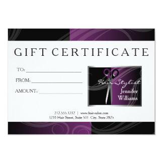 Carte Chèques-cadeau de salon de coiffure