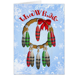Carte cherokee de receveur de rêve de Noël