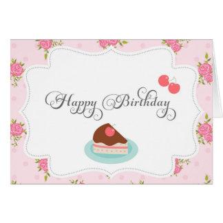 Carte chic minable de joyeux anniversaire