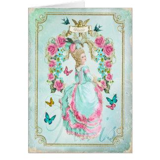 Carte chic minable de papillon de Marie Antoinette