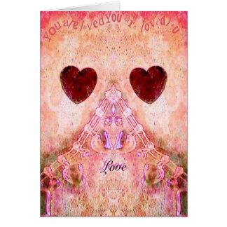 Carte chic minable de Valentines