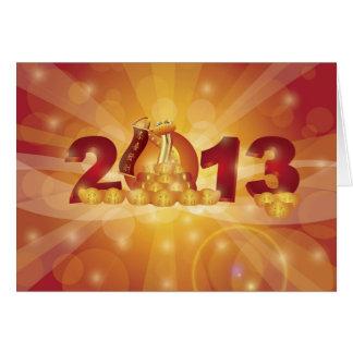 Carte chinoise heureuse de la nouvelle année 2013