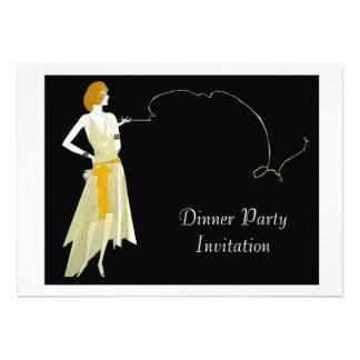 Carte chique d invitation de dîner de soirée