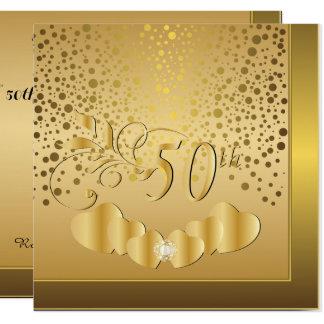 Carte cinquantième Anniversaire de mariage d'or