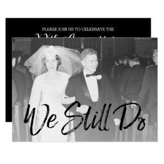 Carte cinquantième Anniversaire et photo de mariage -
