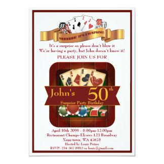 Carte cinquantième, casino d'homme d'anniversaire,