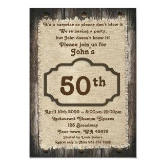 Carte cinquantième, homme d'anniversaire, homme de