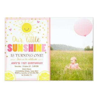 Carte Citrons de rose d'invitation d'anniversaire de