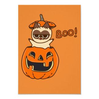 Carte Citrouille Cat Boo