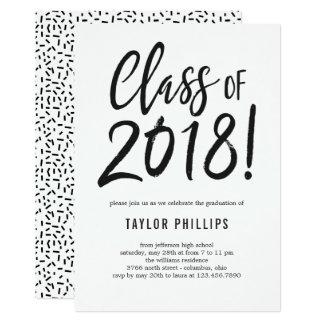 Carte Classe de l'invitation 2018 de fête de remise des