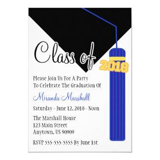 Carte Classe de l'invitation 2018 d'obtention du diplôme