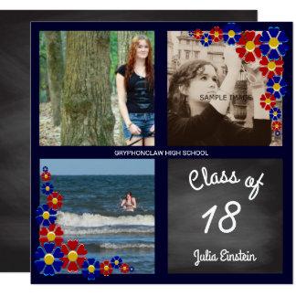 Carte Classe de tableau de fête de remise des diplômes