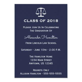 Carte Classe d'invitation d'obtention du diplôme de 2018