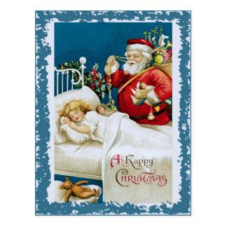 Carte classique de beau Noël vintage rétro Carte Postale