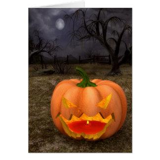 Carte classique de Jack-o'-lantern Halloween
