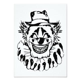 Carte Clown effrayant mauvais Halloween