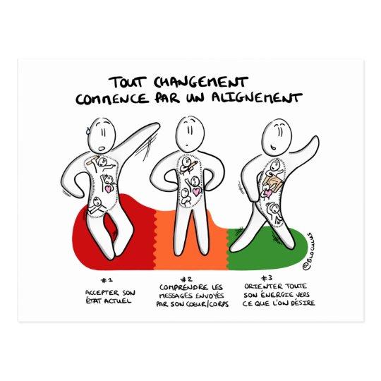 """Carte coaching """"Changement commence par Alignement"""