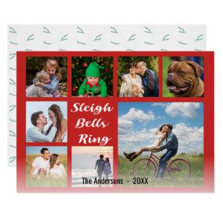Carte Collage de Noël de recouvrement de manuscrit
