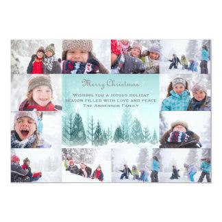 Carte Collage de paysage d'hiver de 12 photos - Noël 5x7