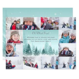Carte Collage de paysage d'hiver de 12 photos - Noël 6x8