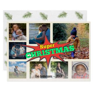 Carte Collage de photo de bulle de la parole de Noël de