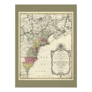 Carte coloniale de l'Amérique par Matthaus Lotter