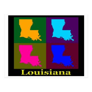 Carte colorée d'art de bruit de la Louisiane