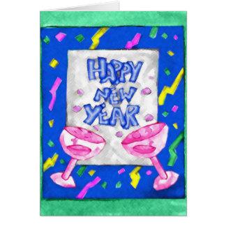 Carte colorée de bonne année