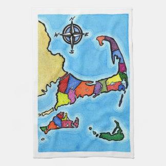 Carte colorée de Cape Cod Serviettes Éponge