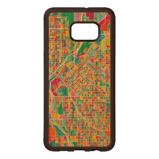 Carte colorée de Denver Coque En Bois Galaxy S6 Edg