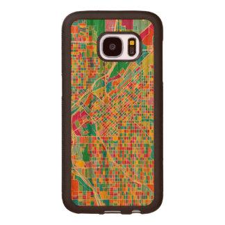 Carte colorée de Denver Coque En Bois Galaxy S7
