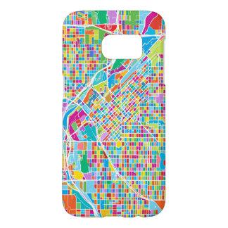 Carte colorée de Denver Coque Samsung Galaxy S7