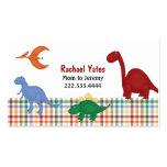 Carte colorée de maman de dinosaures modèles de cartes de visite
