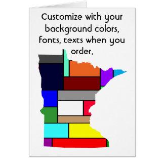 Carte colorée de personnaliser du Minnesota