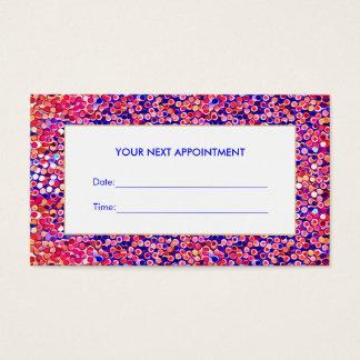 Carte colorée de rendez-vous de salon de confettis