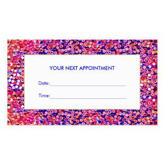 Carte colorée de rendez-vous de salon de confettis carte de visite standard