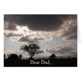 Carte commémorative de souvenir de fête des pères
